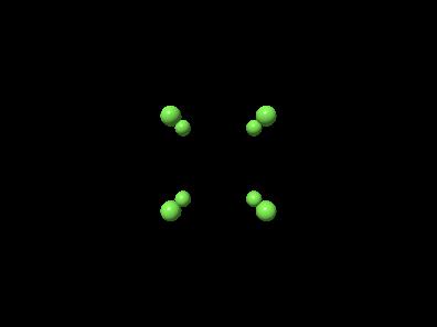 Animation eines kubischen Kristallgitters